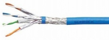 S/FTP Kabel Cat.7a, 4x2xAWG22/1, 1200Mhz, LS0H-3, 50%, blau